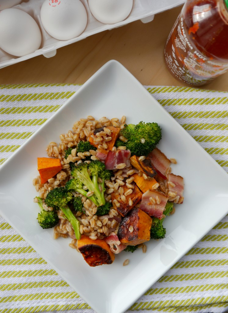 Bacon & Egg Farro Salad 2 | My Bacon-Wrapped Life