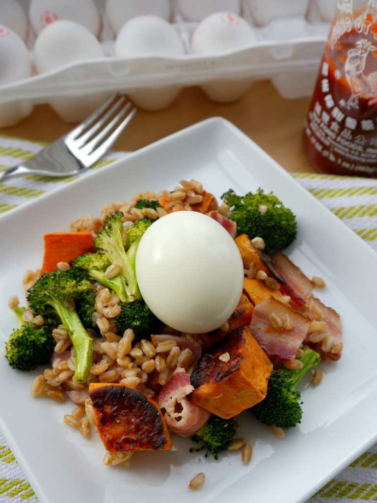 Bacon & Egg Farro Salad 3 | My Bacon-Wrapped Life