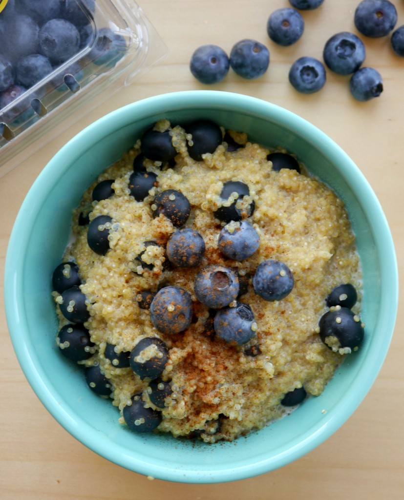 Blueberry Breakfast Quinoa | My Bacon-Wrapped Life