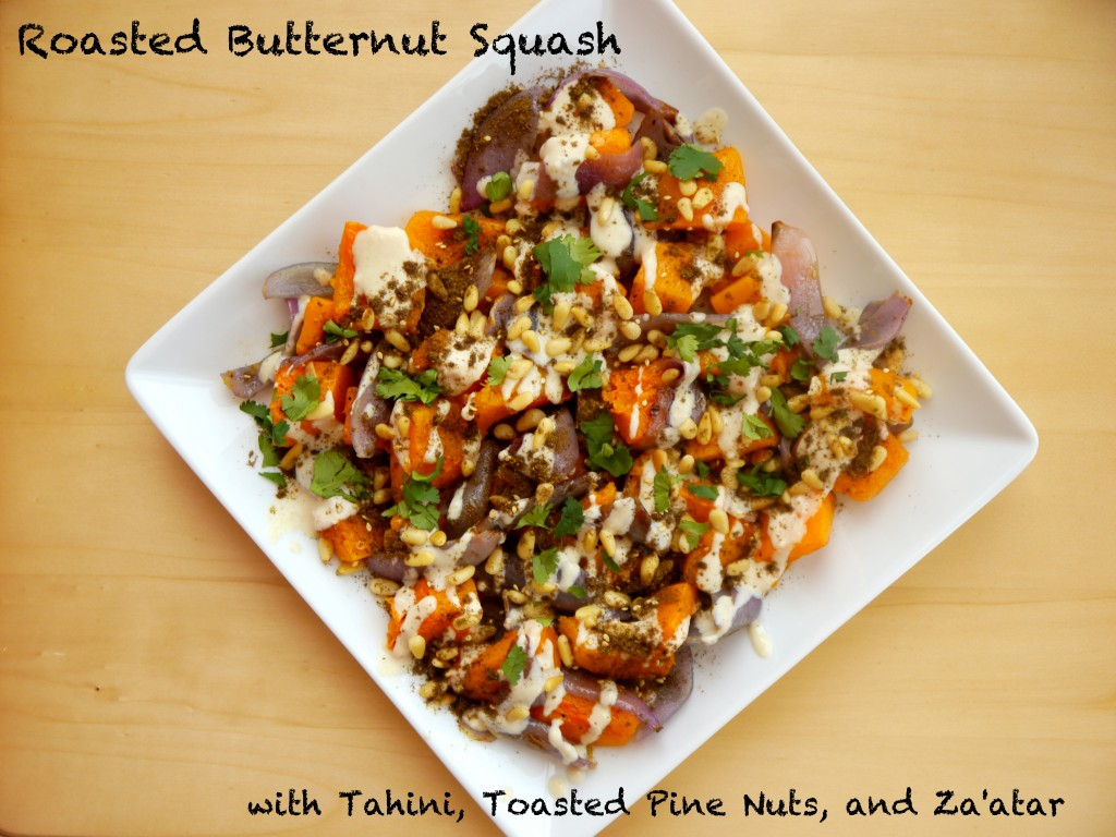 Roasted Butternut Squash with Tahini, Toasted Pine Nuts, and Za'atar 5 | www.mybaconwrappedlife.com