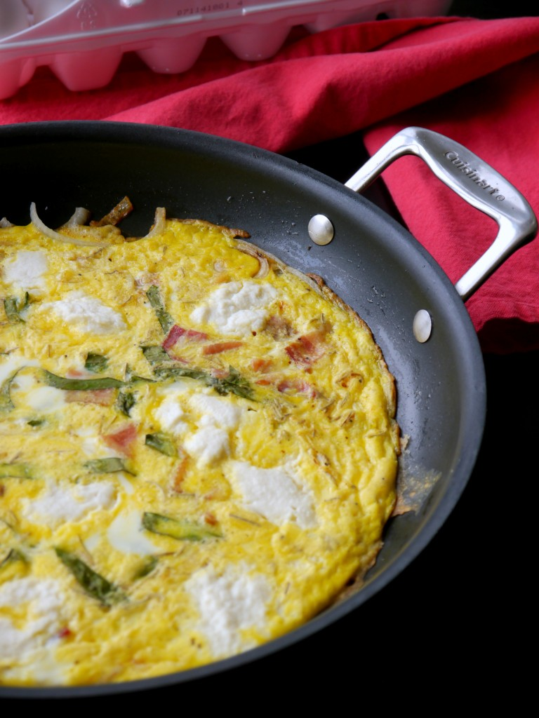 Bacon, Onion, and Ricotta Frittata 4 | www.mybaconwrappedlife.com