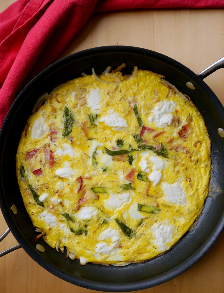 Bacon, Onion, and Ricotta Frittata 2 | www.mybaconwrappedlife.com