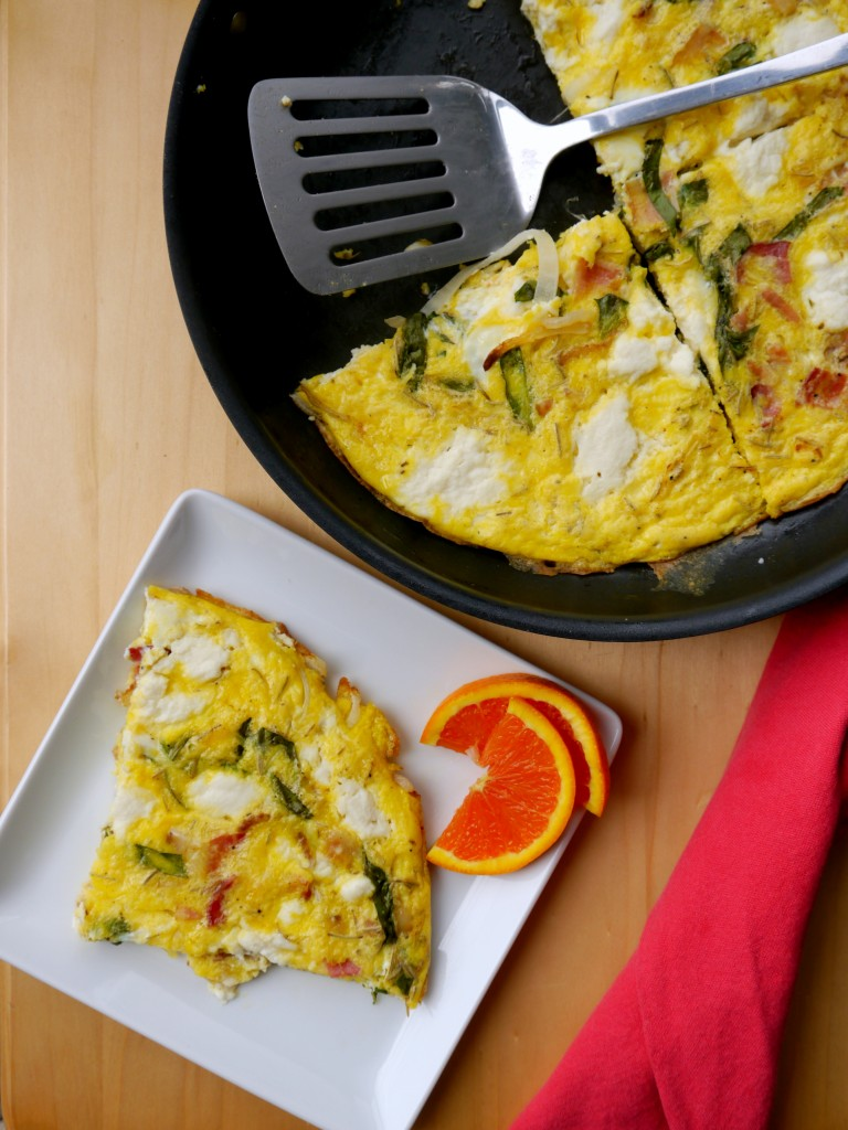 Bacon, Onion, and Ricotta Frittata | My Bacon-Wrapped Life