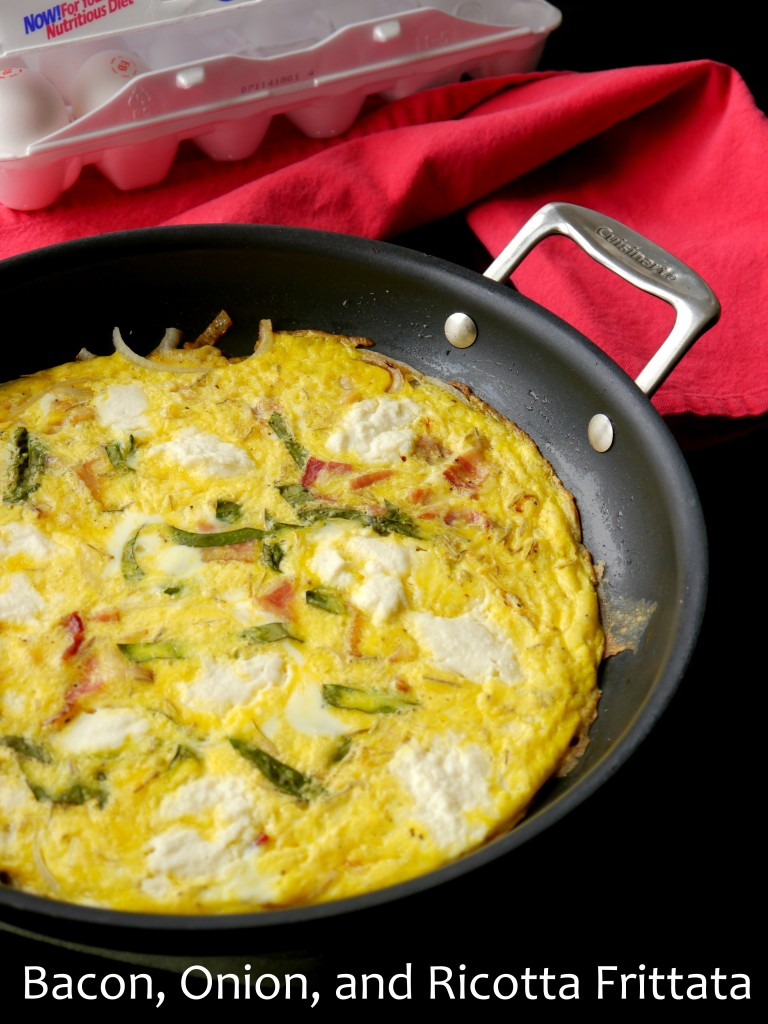 Bacon, Onion, and Ricotta Frittata 6 | www.mybaconwrappedlife.com