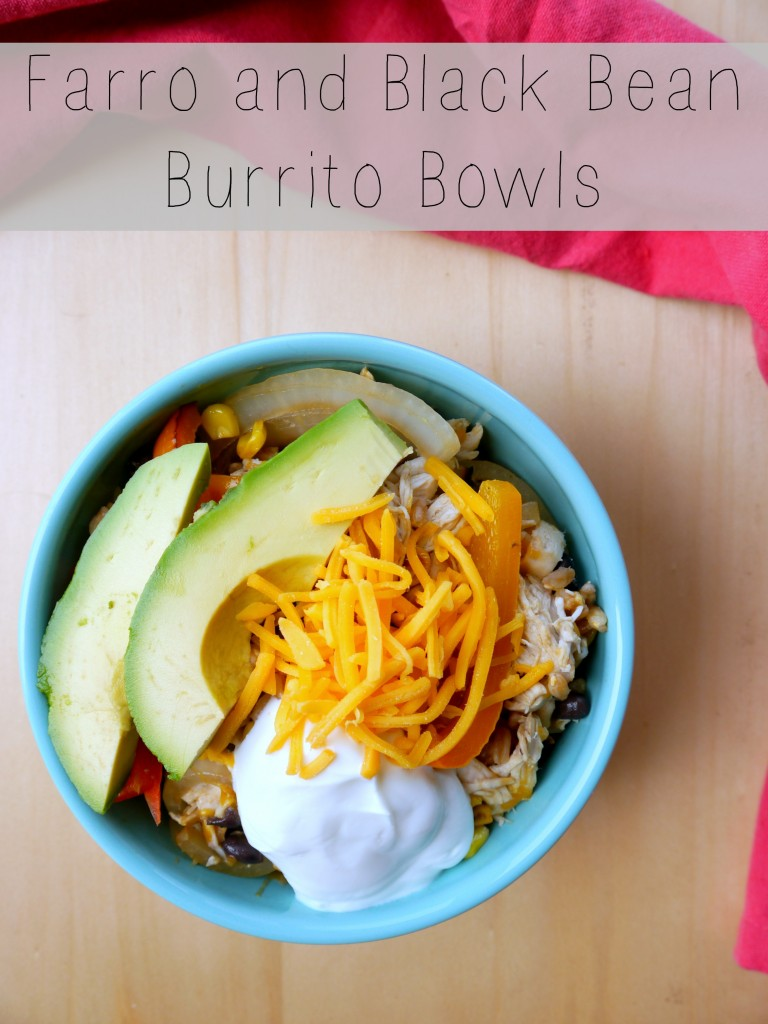 Farro and Black Bean Burrito Bowls - My Bacon-Wrapped Life