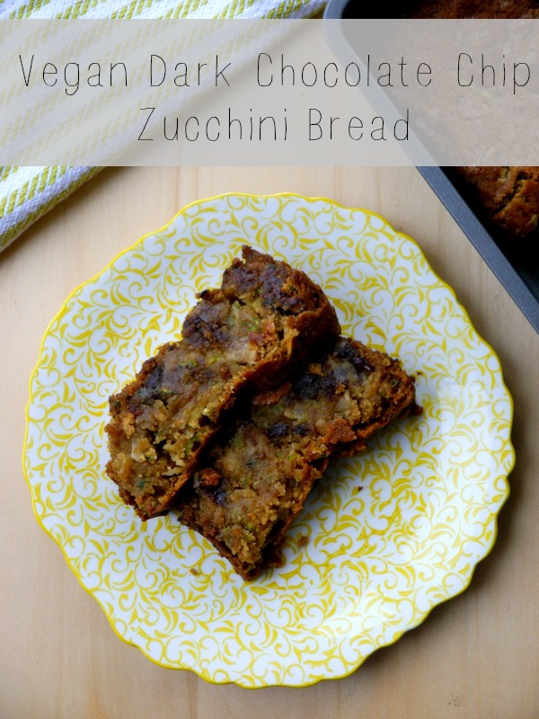 vegan dark chocolate chip zucchini bread // my bacon-wrapped life
