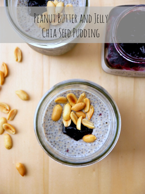 peanut butter & jelly chia seed pudding // my bacon-wrapped life