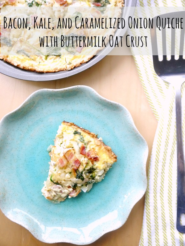 bacon, kale, and caramelized onion quiche with buttermilk oat crust // my bacon-wrapped life