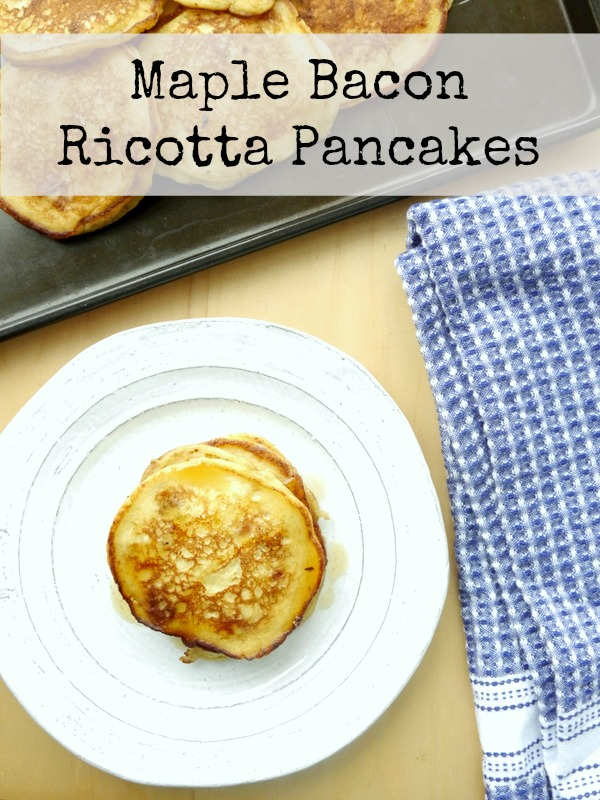 maple bacon ricotta pancakes // my bacon-wrapped life