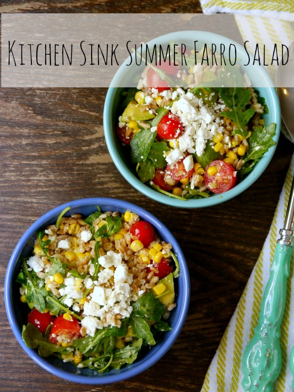 kitchen sink summer farro salad // my bacon-wrapped life