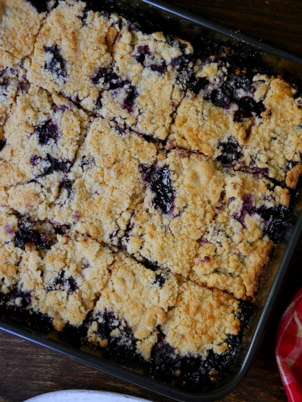 fresh blueberry crumble bars // my bacon-wrapped life