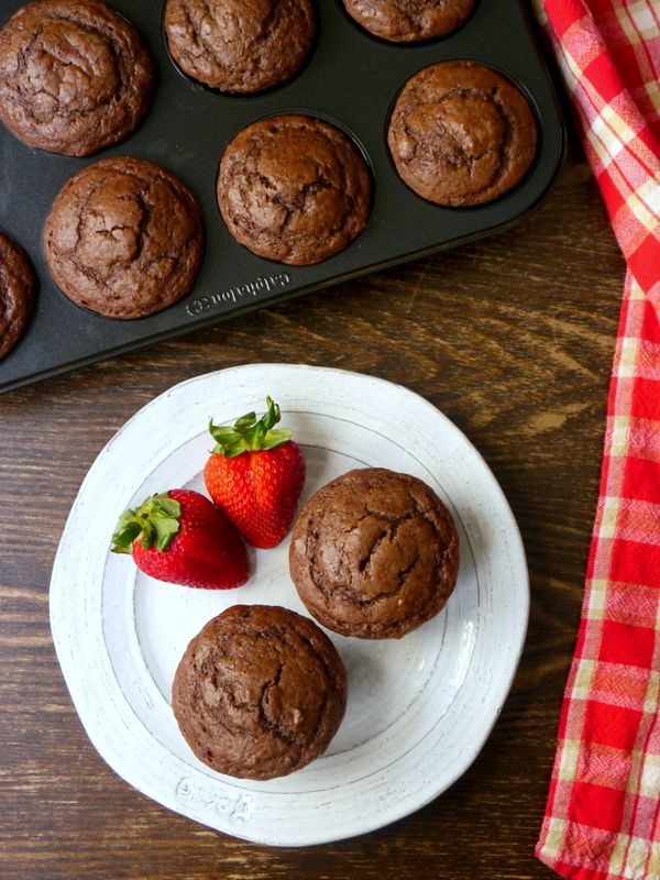 bakery-style double chocolate muffins // my bacon-wrapped life