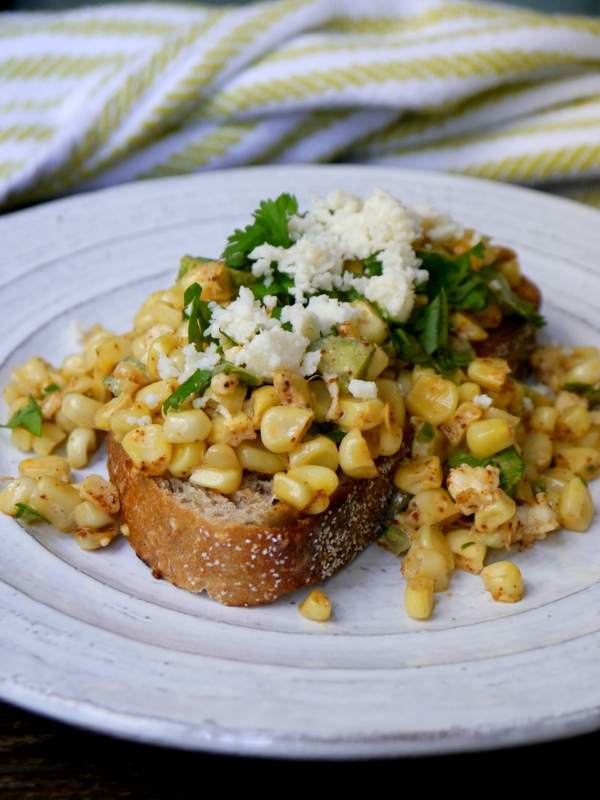 elote (mexican street corn) toast // my bacon-wrapped life