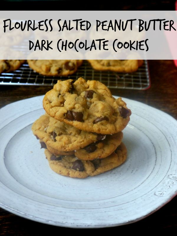 flourless salted peanut butter dark chocolate cookies // my bacon ...