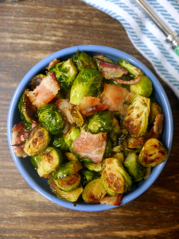 sweet and spicy bacon brussels sprouts // my bacon-wrapped life