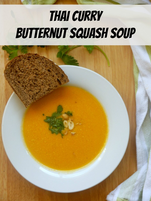thai curry butternut squash soup // my bacon-wrapped life