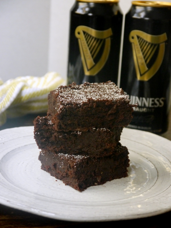 fudgy chocolate stout brownies // my bacon-wrapped life