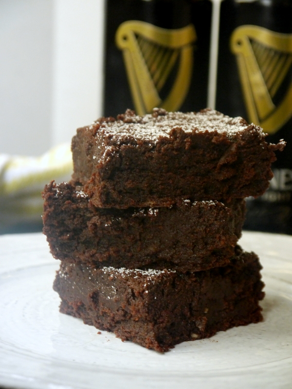 Fudgy Chocolate Stout Brownies - My Bacon-Wrapped Life