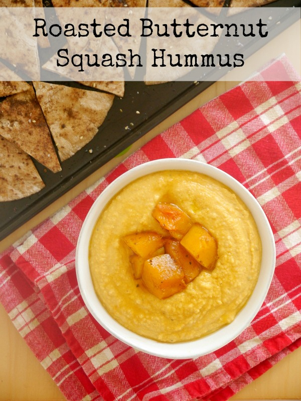 roasted butternut squash hummus // my bacon-wrapped life