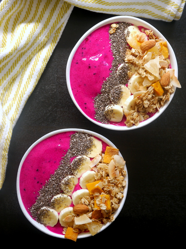 pitaya breakfast bowls // my bacon-wrapped life